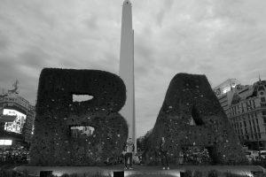 Centre de Buenos Aires, amb l'obelisc al darrere