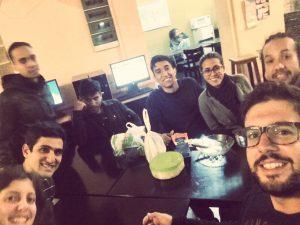 Sopant amb els amics Veneçolans del Hostel
